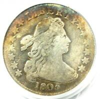 1805 DRAPED BUST DIME 10C - PCGS GENUINE PLUGGED -  COIN - FINE DETAILS
