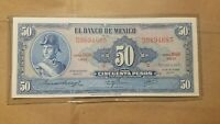 1972 MEXICO 50 PESOS MEXICAN FIFTY PESO NOTE UNCIRCULATED CU UNC P49U PREFIX BQX