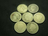 1883 N/C, 1883 W/C, 1884, 1887, 1888, 1889, 1890  LIBERTY V NICKEL CULLS