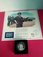GEN. GEORGE S. PATTON  STERLING SILVER COMM. MEDALLION  FIRST DAY COVER
