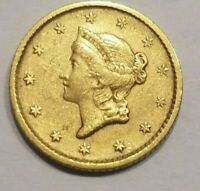 1852 LIBERTY HEAD GOLD DOLLAR TYPE I $1 ABOUT UNCIRCULATED DETAILS AU A UNC