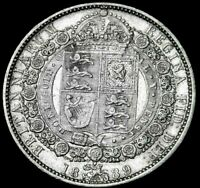 1889 GREAT BRITAIN HALF CROWN AMAZING DETAILS SEE THE PICS  RE6 1 20 A47 181