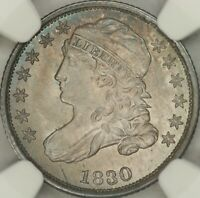 1830 MEDIUM 10C CAPPED BUST DIME NGC MINT STATE 66