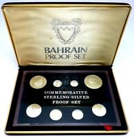 BAHRAIN SILVER PROOF COIN SET FILS 1983 10TH ANNIVERSARY 1973   1983  T53.1