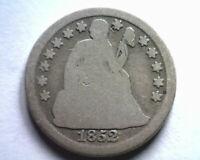 1852 SEATED LIBERTY DIME GOOD G ORIGINAL COIN FROM BOBS COINS FAST SHIPMENT