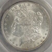 1898 MORGAN DOLLAR GRADED MINT STATE 63 BY ANACS, LUSTROUS