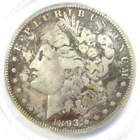 1893-S MORGAN SILVER DOLLAR $1 - CERTIFIED ANACS F12 DETAILS -  KEY COIN