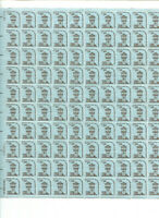 500 US STAMPS   FIVE   100 STAMP SHEETS   MNH   LOT 5