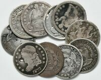 LOT OF OLD SILVER HALF DIMES