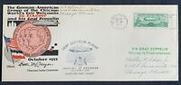 WORLDS FAIR CHICAGO FAHRT FN 1933 GRAF ZEPPELIN US 50 CENT E
