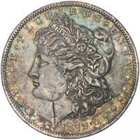 1879-O MORGAN SILVER DOLLAR GORGEOUS VIVID NEON COLORING CHOICE TONED BU MR