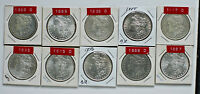 MORGAN DOLLARS CHOSE 3 FROM 10 DIFFERENT COINS 1885-1889