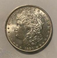 1890 MORGAN SILVER DOLLAR $1 ABOUT UNCIRCULATED