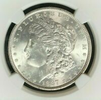 1887 VAM 5 NGC MINT STATE 62 MORGAN SILVER DOLLAR  GENE L. HENRY LEGACY COLLECTION