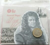2019 ROYAL MINT SAMUEL PEPYS 2 TWO POUND COIN PACK SEALED UN