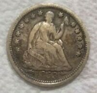 1853 ARROWS UNITED STATES SEATED LIBERTY HALF DIME .900 SILV