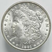 1891 P MORGAN DOLLAR IGA 64/64