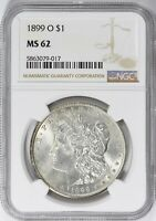 1899-O MORGAN SILVER DOLLAR NGC MINT STATE 62