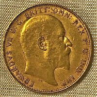 KING EDWARD VII GOLD SOVEREIGN COIN 1908 PERTH?