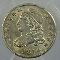 1814 10C LARGE DATE PCGS MINT STATE 63