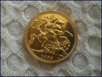 FULL GOLD SOVEREIGN 22 CT. GOLD 1982   QUEEN ELIZABETH 2ND