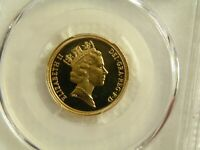 1987 BRITISH GOLD CAMEO PROOF FULL SOVEREIGN PCGS PR66CAM
