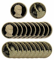 2014 -S CALVIN COOLIDGE PRESIDENTIAL PROOF DOLLAR ROLL 20 US COINS