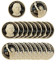 2007 -S JAMES MADISON PRESIDENTIAL PROOF ROLL 20 US COINS
