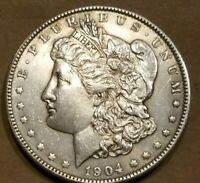 1904 O MORGAN SILVER DOLLAR LIBERTY HEAD $1 COIN AMERICAN EAGLE HIGH GRADE