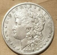 1900 O MORGAN SILVER DOLLAR LIBERTY HEAD $1 COIN AMERICAN EAGLE AU NICE