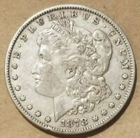 1878 MORGAN SILVER DOLLAR LIBERTY HEAD COIN AMERICAN EAGLE EF XF REVERSE OF 1879