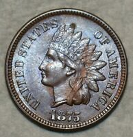 UNCIRCULATED  1875 INDIAN HEAD CENT ATTRACTIVELY TONED SPECI