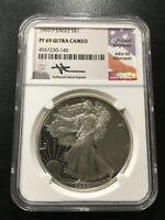 1993 PROOF SILVER EAGLE NGC PR-69 DCAM - MERCANTI SIGNED ASE- CERTIFIED SLAB -$1