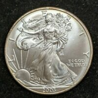 2003 SILVER EAGLE-BRILLIANT UNCIRCULATED .999 1OZ SILVER- BEAUTIFUL COIN