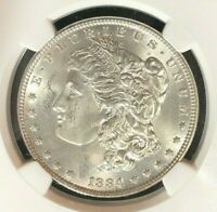 1884 MORGAN SILVER DOLLAR  NGC MINT STATE 63 BEAUTIFUL COINREF06-006