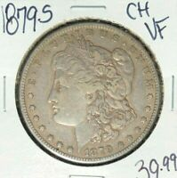 1879-S MORGAN SILVER DOLLAR  CH/VF  LOOKING COIN