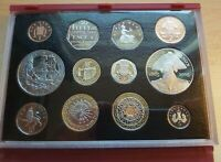 2005 ROYAL MINT UK PROOF 12 COIN YEAR SET NELSON 5'S & GUNPO