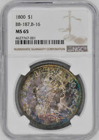 1800 DRAPED BUST $1 NGC MINT STATE 65