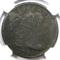1794 LIBERTY CAP LARGE CENT 1C COIN - CERTIFIED NGC FINE DETAILS -  COIN
