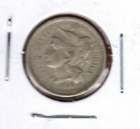 1866 3-CENT NICKEL GRADES  FINE  C4491