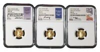 2017 SET OF 3 $5 GOLD EAGLE ALL SIGNED NGC MS70 FIRST DAY OF ISSUE FREE SHIP