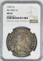 1799 DRAPED BUST $1 NGC MINT STATE 62