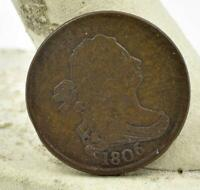 RAW 1806 HALF CENT  READABLE NO ABUSE BETTER CONDITION HIGHER GRADE