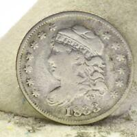 RAW 1833 HALF DIME CAPPED BUST