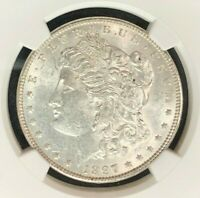 1897 VAM 6A NGC MINT STATE 60 MORGAN SILVER DOLLARGENE L HENRY LEGACY COLLECTION 001