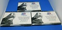 2005 & 2007 08 SILVER PROOF SETS 50 STATE QUARTERS 15 COINS