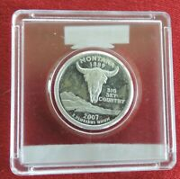 2007 S MONTANA 25 CENTS 90  SILVER IN HARD PLASTIC CASE