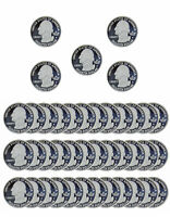 1999 2008 S STATE QUARTER PROOF ROLL CAMEO 90  SILVER 40 US