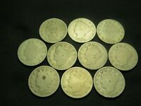 1891,1892,1893,1894,1895,1896,1897,1898,1899,1900 LIBERTY V NICKEL CULLS