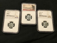1943 PDS LINCOLN STEEL CENT NGC CERTIFIED LOT . SUPER